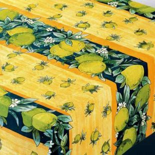 Lemon : nappe damassée jetable