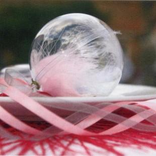 Boule transparente 5 et 8 cm