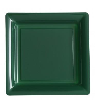 Assiette plastique carrée 29 cm vert