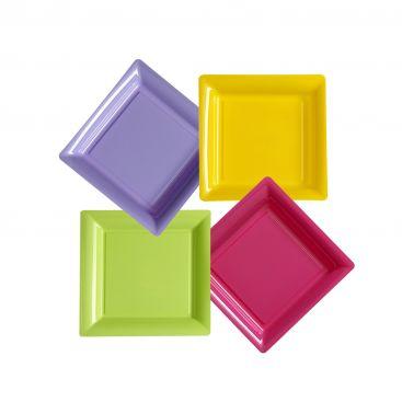 Assiette plastique carrée 23 cm repas