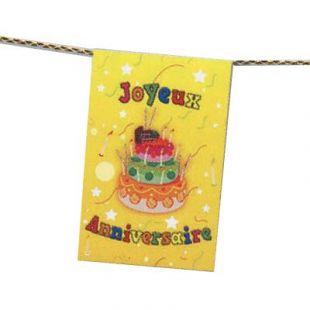Banderole anniversaire gâteau