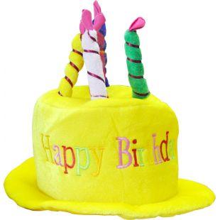 Chapeau anniversaire blanc/couleur
