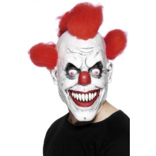 Masque de clown cheveu rouge