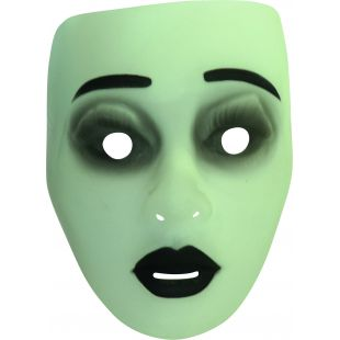 Masque transparent phosphorescent femme