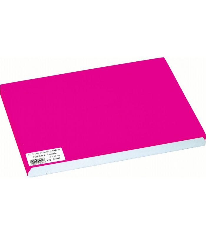 Set De Table Papier Jetable De Couleur Unie