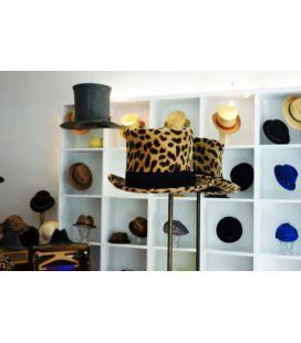 Chapeau haut de forme leopard
