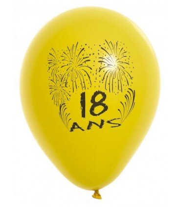 Ballon 25 cm 19 ans