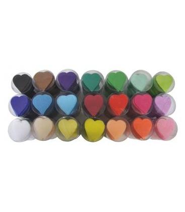 Confetti coeur multicolores