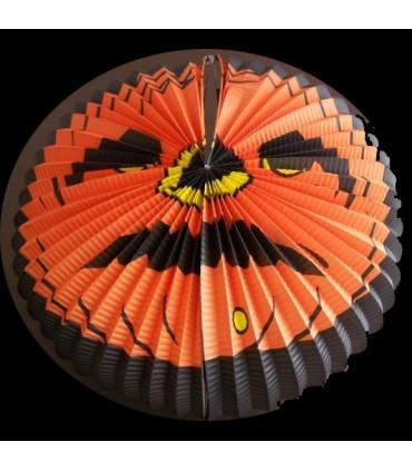 Lampion citrouille orange et noir