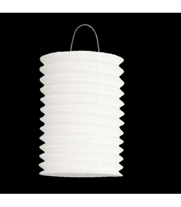 Lampion cylindrique blanc