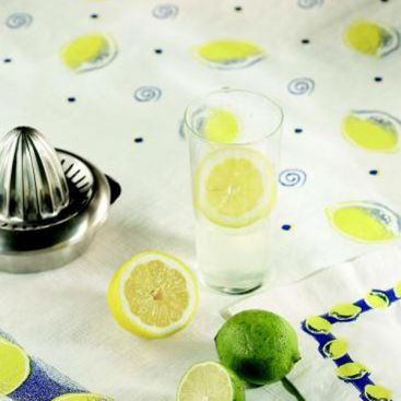Citronnier : nappe damassée