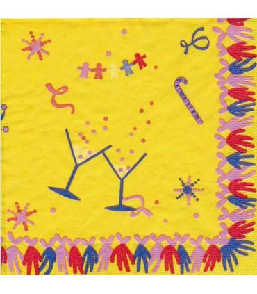 Sarbacane : serviette jaune