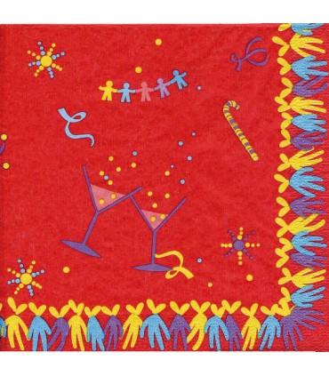 Sarbacane : serviette rouge