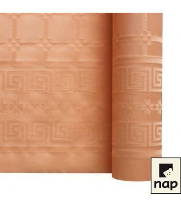 Nappe papier damassé abricot