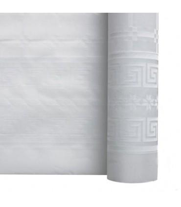 Nappe papier damassé blanche