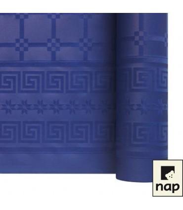 Nappe papier damassé bleue