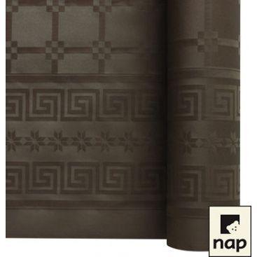 Nappe papier damassé chocolat