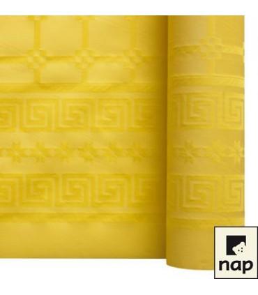 Nappe papier damassé citron