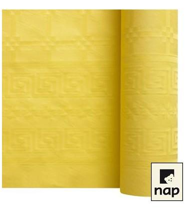 Nappe papier damassé jaune