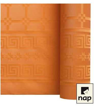 Nappe papier damassé mandarine