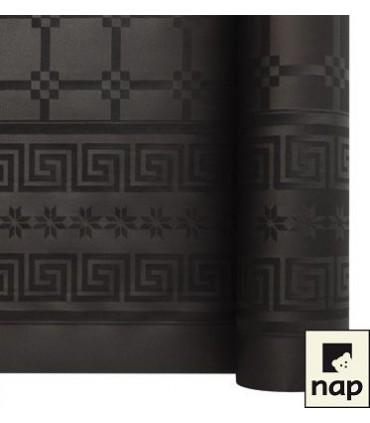 Nappe papier damassé noire