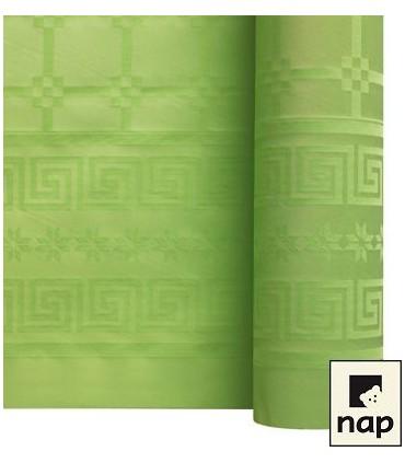 Nappe papier damassé pistache