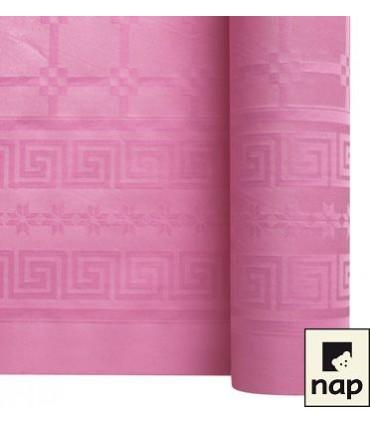 Nappe papier damassé rose