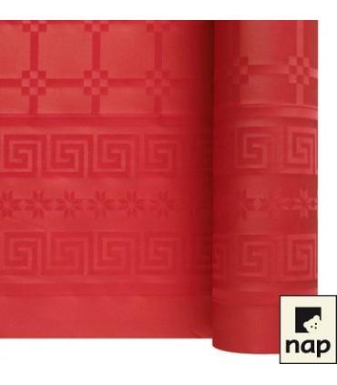 Nappe papier damassé rouge