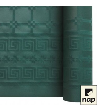 Nappe papier damassé vert