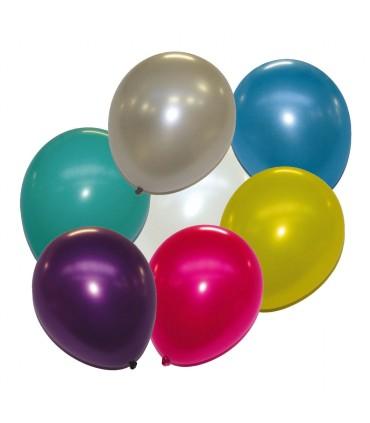 Ballon métallisé multicolores 30 cm