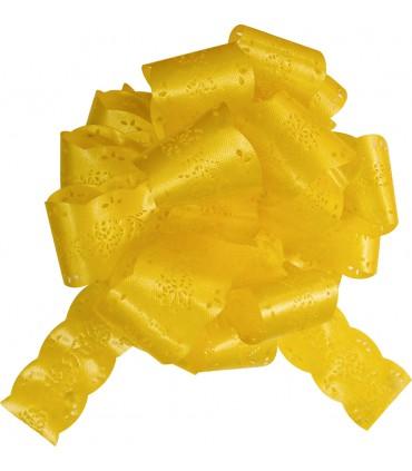 Noeud automatique 30 mm dentelle jaune citron