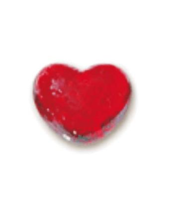 Galets coeur rouge