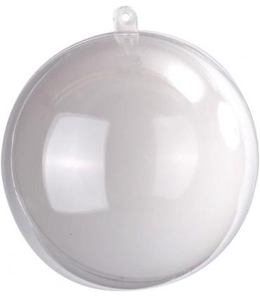 Boule transparente blanc