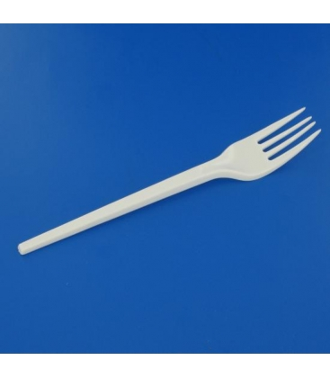 Fourchette plastique blanche 165 mm