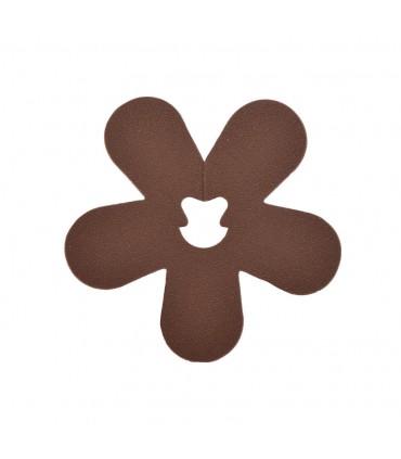 Clip fleur chocolat
