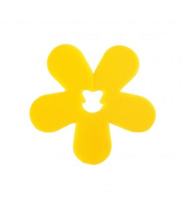 Clip fleur jaune