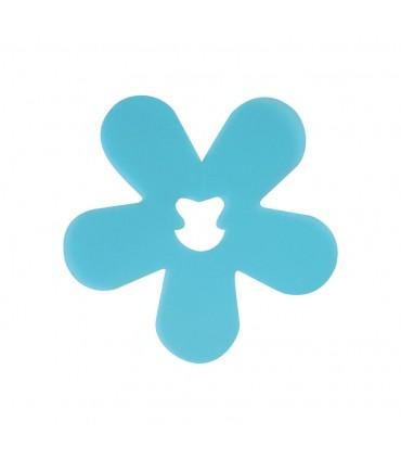 Clip fleur turquoise