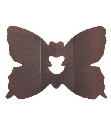 Clip papillon chocolat