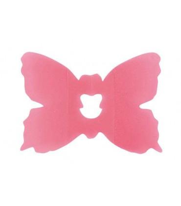 Clip papillon fuchsia
