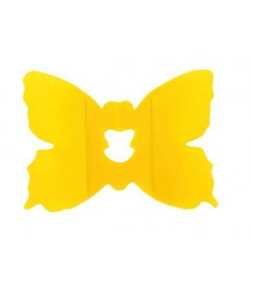 Clip papillon jaune