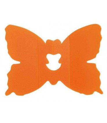 Clip papillon orange