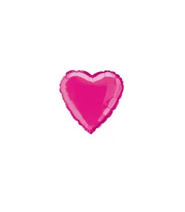 Ballon mylar coeur fuchsia
