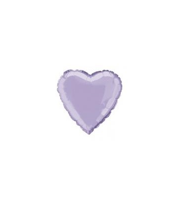 Ballon mylar coeur parme