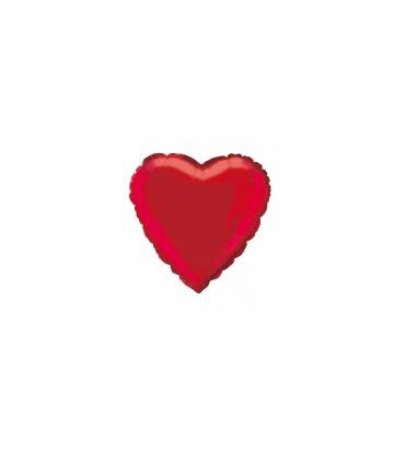 Ballon mylar coeur rouge