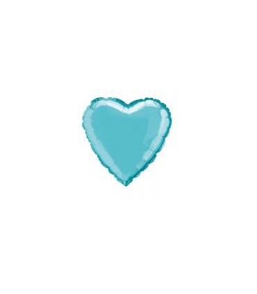 Ballon mylar coeur turquoise