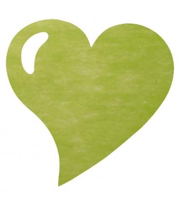Set de table intissée coeur vert amande