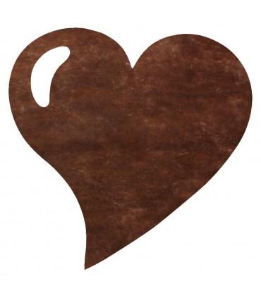 Set de table intissée coeur chocolat