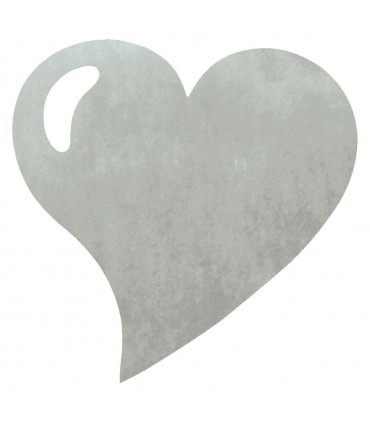 Set de table intissée coeur gris