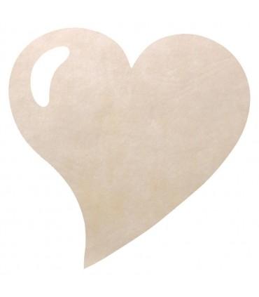 Set de table intissée coeur ivoire