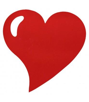 Set de table intissée coeur rouge